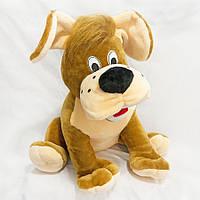 Собака Тузик средняя коричневая мягкая игрушка