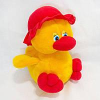 Утенок в шапке девочка мягкая игрушка