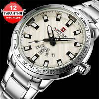 Кварцевые часы Naviforce silver