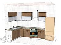 Нижній і верхній окремий кухонний корпус Економ: робоча поверхня, робочий стіл, мийка, ящики висувні метабокc
