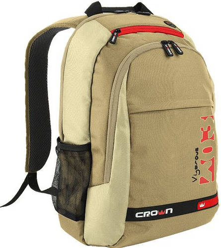 """Рюкзак унисекс для ноутбука 15,6"""" Crown Vigorous Series, BPV-315W бежевый"""