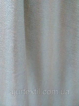 """Штора лен """"Однотонный светло серый"""", фото 2"""