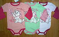 Бодики для девочек Disney, оптом, 50/56-86 рр