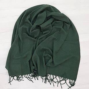 Палантин из шерсти зеленый