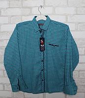 Рубашка для мальчиков с длинным рукавом  на 11-16 лет
