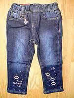 Джинсовые брюки для девочек на флисе, Seagull 6-36 рр