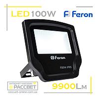 Светодиодный LED прожектор Feron LL-471 192LED 100W с матовым стеклом 9900Lm, фото 1