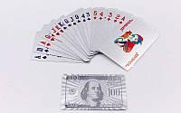 Игральные карты серебряные IG-4566-S SILVER (колода в 54 листа, толщина-0,28мм)