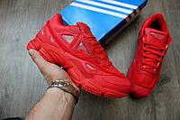 Мужские стильные спортивные кроссовки Adidas Raf Simons Red (реплика)