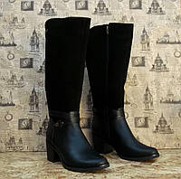 Сапоги женские Leal 133 модель стильные с натуральной кожи