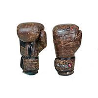 Перчатки боксерские кожанные на липучке HAYABUSA KANPEKI VL-5779