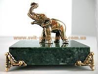 Оригинальный сувенир, бронзовая статуэтка Слон