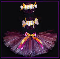 Детский костюм конфетки фиолетово-белый