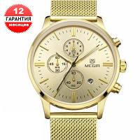 Кварцевые часы Megir 2011 (gold)