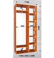 Шкаф - Купе 1100/450/2400