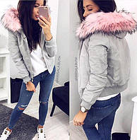 Женская зимняя теплая куртка на синтепоне 200 подкладка флис р.S-M Нереально крутая!
