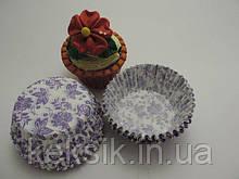 Тарталетки фиолетовые цветы