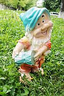 Садовая фигурка Гном с бубном 50 см.