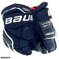 Перчатки хоккейные детские Bauer темно-синие