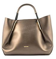 Вместительная стильная прочная модная качественная женская сумка B.ELITart. 07-36 золотистая
