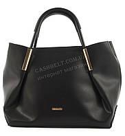 Вместительная стильная прочная модная качественная женская сумка B.ELITart. 07-36 черная гладкая