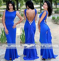 Эффектное вечернее платье с открытой спиной