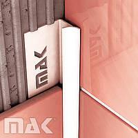 Угол ПВХ для плитки Mak внутренний 10 мм кирпичный(30)