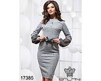 Платье с бантом - 17385(б-ли), фото 1