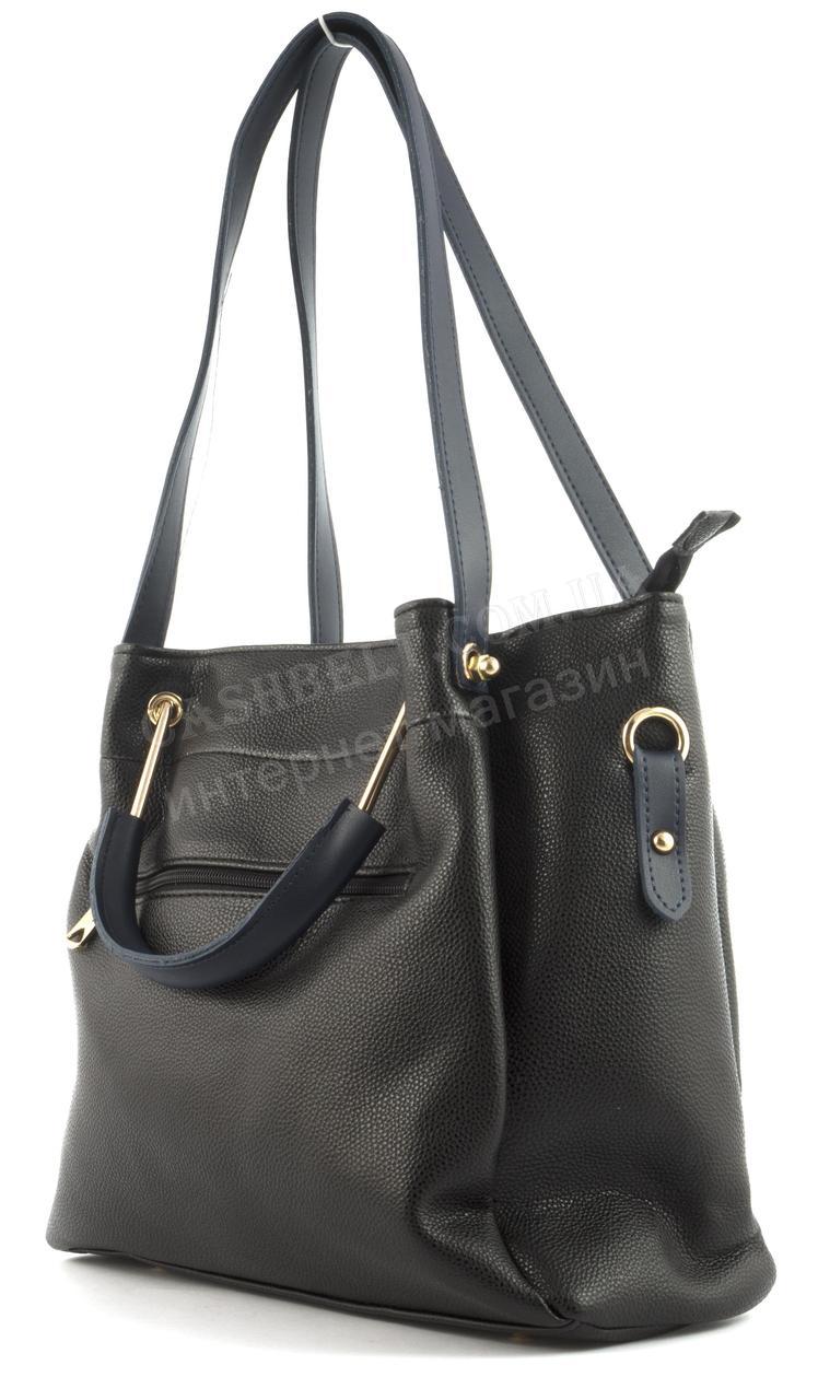 177f20ec8223 Вместительная стильная прочная модная качественная женская сумка B.ELIT  art. 07-51 черная/синяя, цена 780 грн., купить в Виннице — Prom.ua  (ID#592426998)