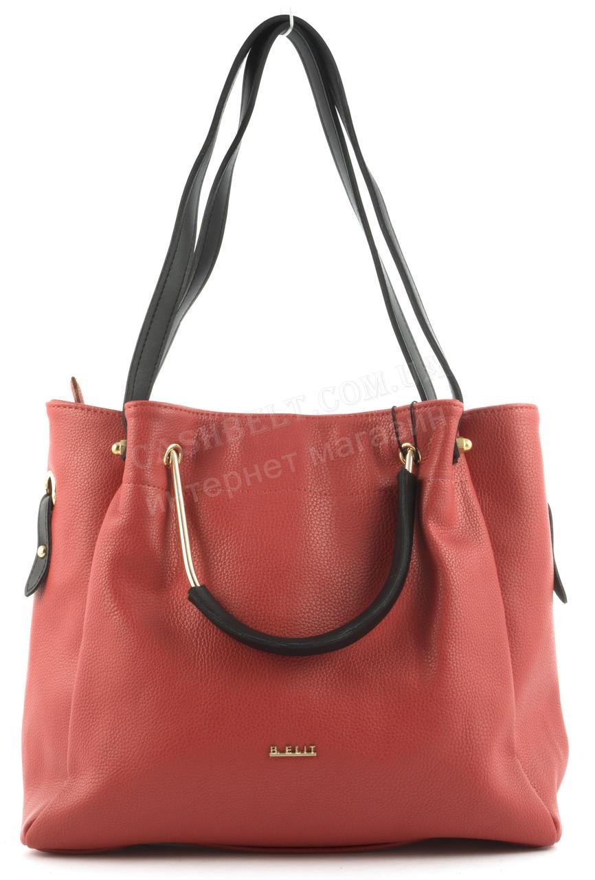 f75580d8bbae Вместительная стильная прочная модная качественная женская сумка B.ELIT  art. 07-51 красная
