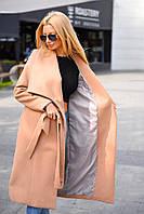 Пальто женское кашемировое демисезонное, фото 1
