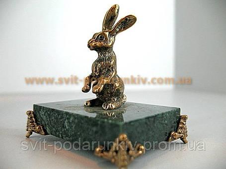 Бронзовая статуэтка Заяц  в подарок, фото 2