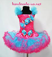 Детский костюм конфетка малинов- бирюзовая