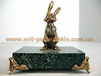 Бронзовая статуэтка Заяц  в подарок