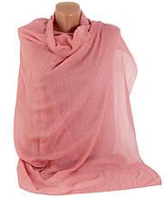 Красивая женская шаль-парео, хлопок, 175х90 см, Trаum 2498-15, цвет розовый.