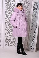Детская зимняя куртка для девочки «Герда», фрес