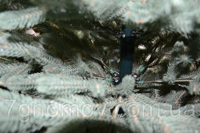 Искусственная елка полностью литая Жозефина голубая 1.20 - 2.70 метра