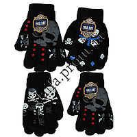 Вязаные перчатки для мальчиков 5-8 лет TC42 (двойная вязка) оптом в Одессе
