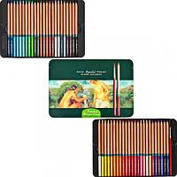 Цветные карандаши Marco Fine ArtAqua-48TN 48 цветов акварельные в металлическом пенале кедр
