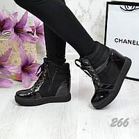 Сникерсы на шнурочках Черные, Осень, остались размеры 40,41.