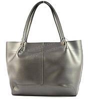 Вместительная стильная прочная модная качественная женская сумка B.ELITart. 07-72 серебристая