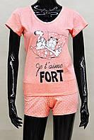 Женская пижама (футболка и шорты) из хлопка Ego