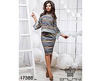 Стильный юбочный костюм - 17388 (б-ни), фото 1
