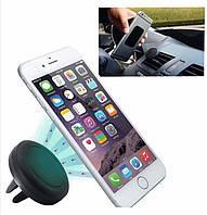 Універсальний автомобільний магнітний тримач для мобільних пристроїв з установкою на повітропровід,чорний колір, фото 1