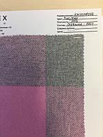 Ткань кашемир (cashmere) 500 серо-розовая клетка