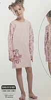 Красивая детская трикотажная ночная сорочка для девочки рост 134, фото 1