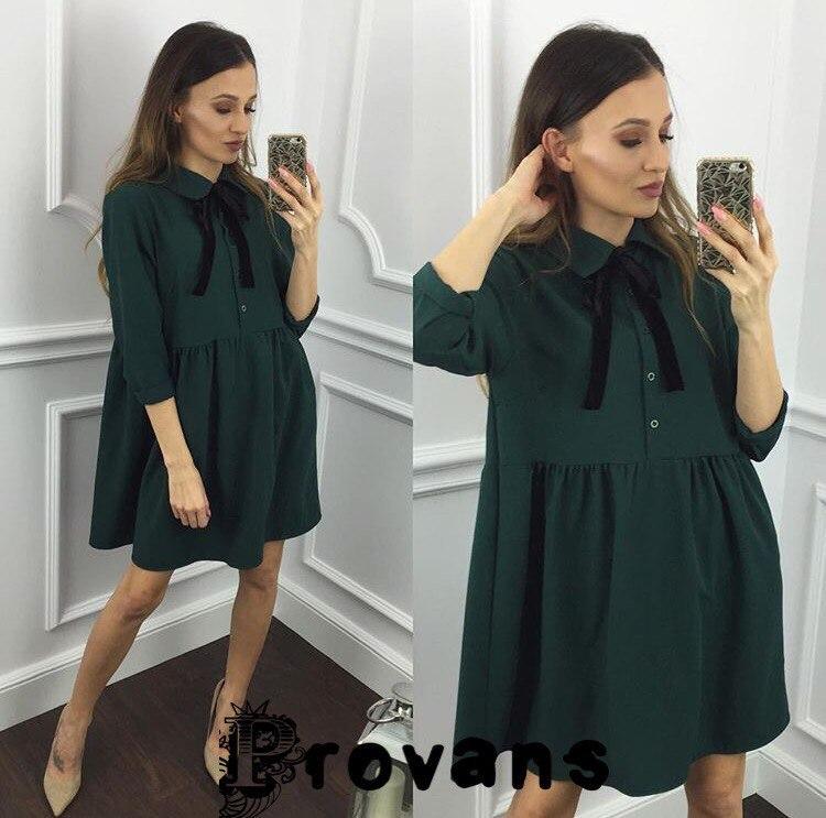 Красивое свободное мини платье на осень - Enigma Shop интернет-магазин женской одежды в Одессе