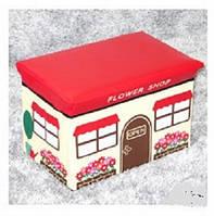 """Пуф короб складной """"Цветочный магазин"""", ящик, корзина - органайзер для игрушек"""