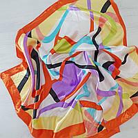 Платок шейный из шелка оранжевый
