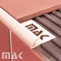 Угол ПВХ для плитки Mak наружный 7,8,9 мм однотонный